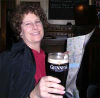 Carol, Guinness and a map