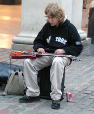 Street musician at Covent Garden