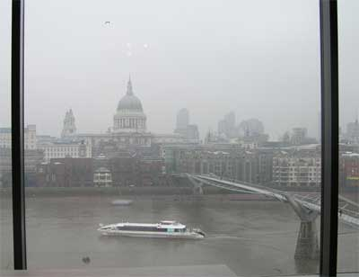 View of St. Paul's across the Thames from the Tate Modern
