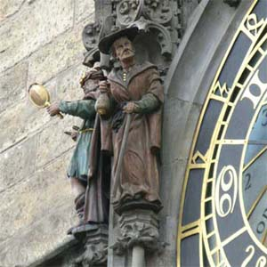Characters on the Old Town Clock