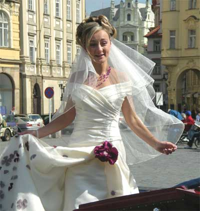 New bride at Old Town Square