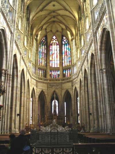 Inside the Cathedral of St. Vitus
