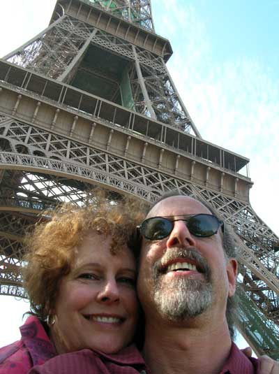 Carol and David at Le Tour Eiffel