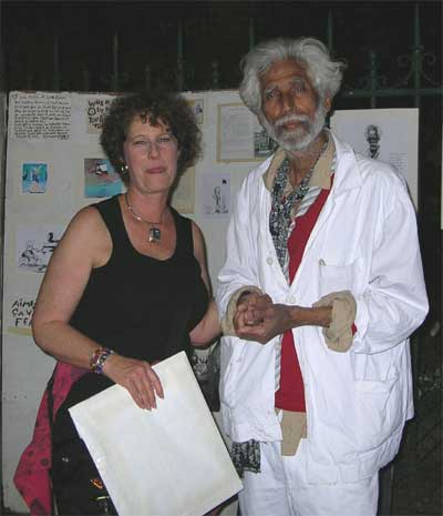 Carol and artist Yaseen Khan
