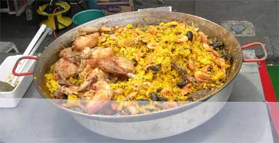Local paella at the Caen market