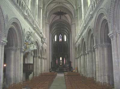 Inside the Cathedral of Bayeaux