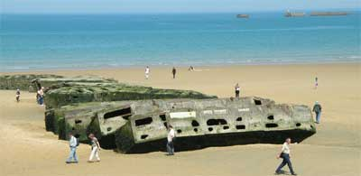 One of the Normandy beaches