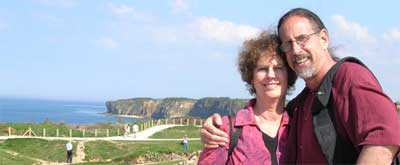 Carol and David at Pont du Hoc