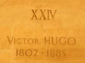 Plaque on Victor Hugo's tomb