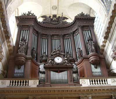 The organ at St. Sulpice