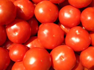 Tomatoes at a marche