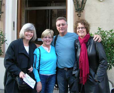 Carol (right) with Maria and Ron (center) and a friend