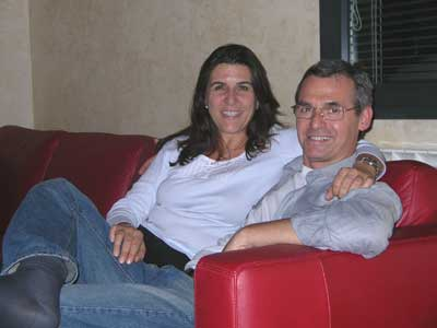 Eleni and Giuseppe at their spectacular home
