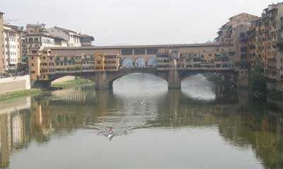 The Ponte Vecchio over the Arno