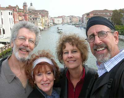The four Wandering Jews exploring the charms of Venice