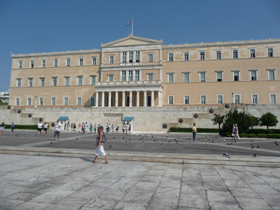 Parliament building in Athens