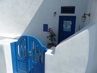 Entrance to our cave house at Lithies Traditional Homes on Santorini