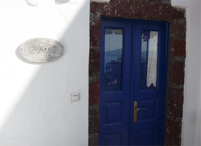 "Our ""cave house"" on Santorini"