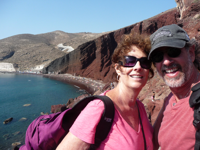 Hiking into Red Beach