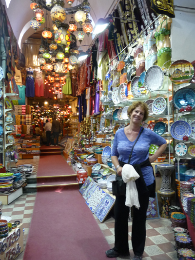 Carol in her element at the Grand Bazaar
