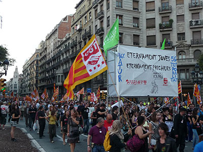 Demonstration march in Barcelona
