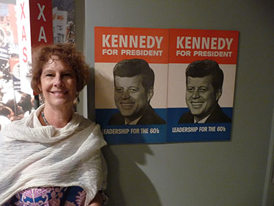 Carol at the JFK Presidential Library & Museum