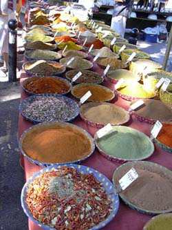 Spices at the Arles market