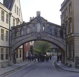 A replica of Venice's Bridge of Sighs