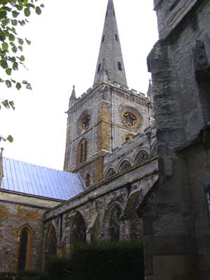 The church where Shakespeare is buried