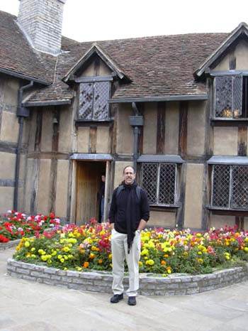 David and Shakespeare's birthplace