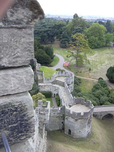 The ramparts of Warwick Castle