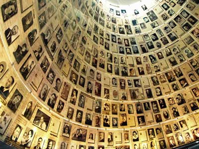 The dome in the Hall of Names at Yad Vashem