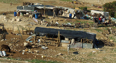 Bedouin village in the Negev Desert