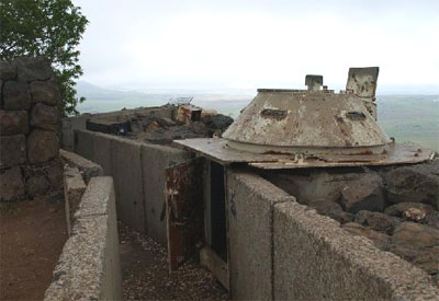 Deserted Syrian bunker in the Golan Heights