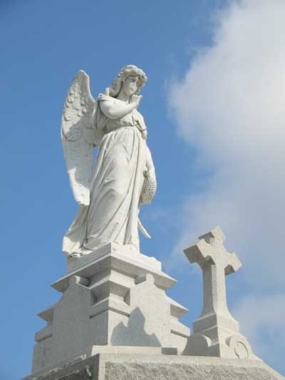 Statue at one of the New Orleans cemeteries