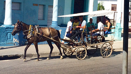 Typical transportation in Cuba