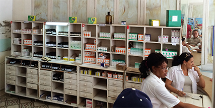 Government pharmacy in Cienfuegos