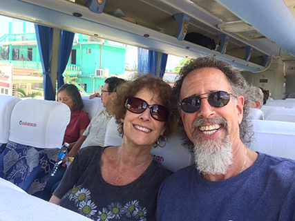 On the bus to Havana
