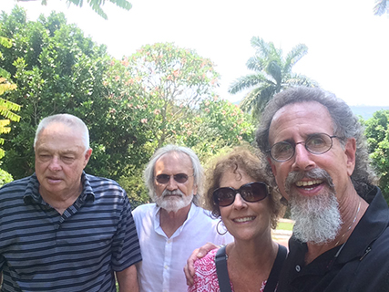 With Ben and Ken at the Hemingway House in Havana