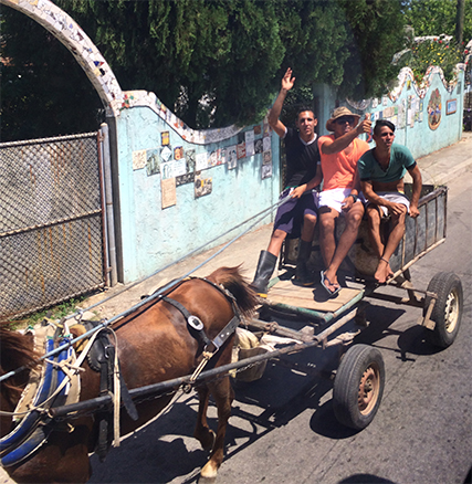 Common form of transportation in Cuba