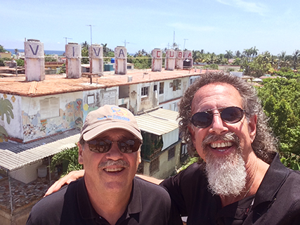 With friend Gary at Fusterlandia in Havana