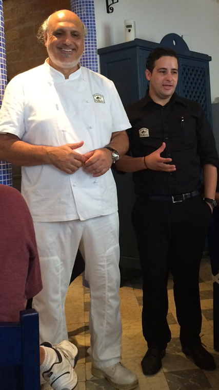 The chef came out to talk to us at Mediterraneo Havana restaurant