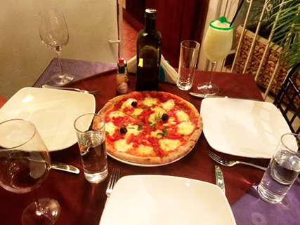 Tasty pizza at hotel Melia Cohiba in Havana