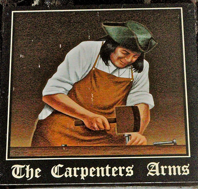 Sign for The Carpenter's Arms in Windsor
