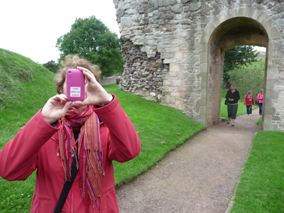 Carol catches castles with her cell phone