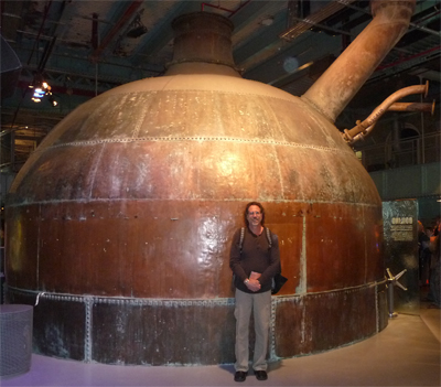 One of the Guinness copper fermenters