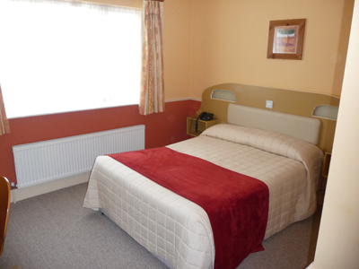 Our bedroom at the Abacus B&B in Galway
