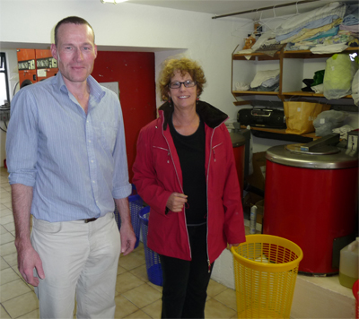 Michael and Carol at the Prospect Hill Laundromat in Galway