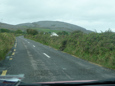 Driving through the Burren
