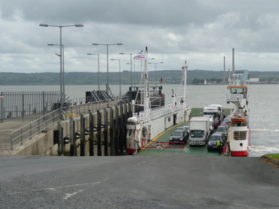 The ferry across the River Shannon